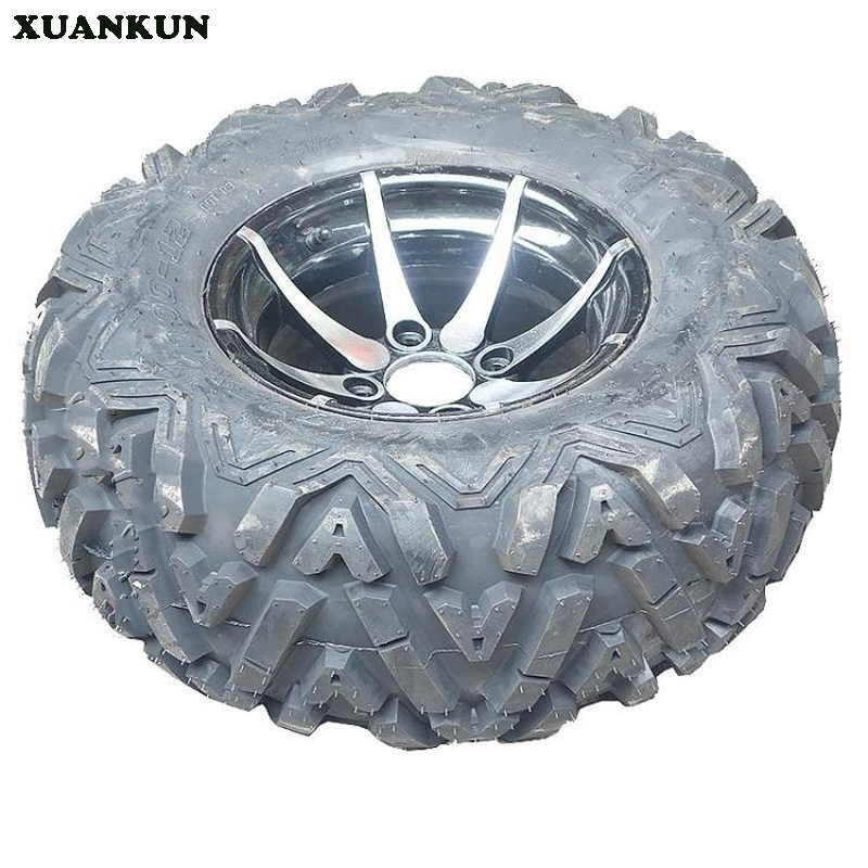 XUANKUN Four Karat Beach Car Accessories 12-Inch Tires Wheel Vacuum Tire 25X10-12 Inch Tires A Word Pattern 1 9 inch rubber tires