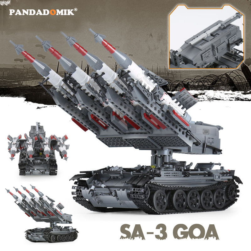 Large Military 1753pcs Tank T55 SA-3 Missile Building Bricks 4 Figures Xingbao Blocks Weapon Toys for Boys Designer Constructor hm136 57pcs large particle building