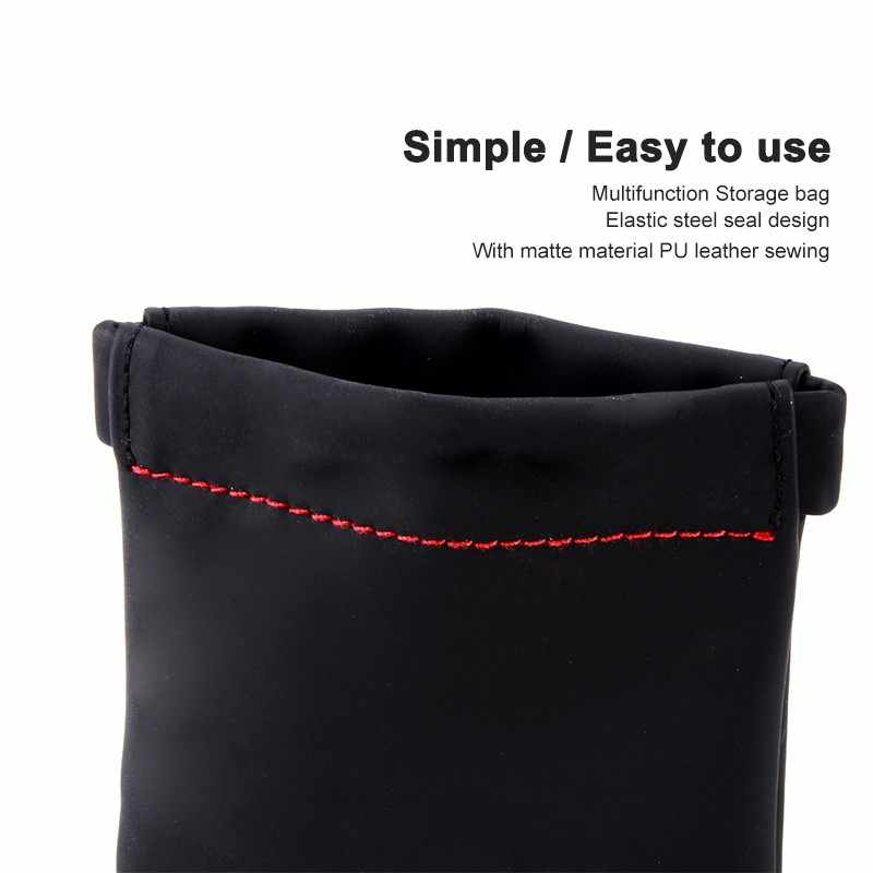 Earphone Accessories Senfer Case Bag PU Leather Earphone Case Portable Bag For Headphone Accessories