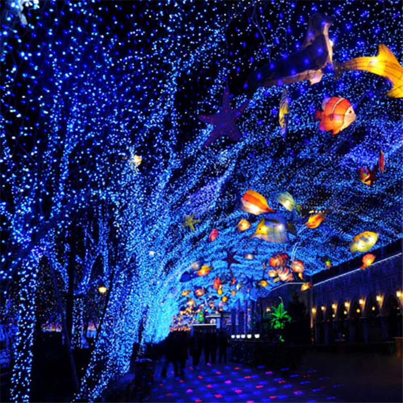 Outdoor Christmas Lights Projector Waterproof Red And Blue Fixed Star Motion Showers For Holiday And Home Exterior Decoration In Stage Lighting Effect From
