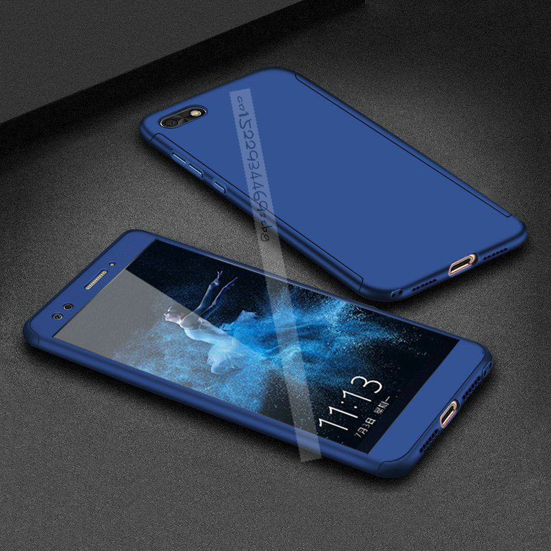 <font><b>360</b></font> Degree Full Cover <font><b>Cases</b></font> On For <font><b>Huawei</b></font> <font><b>Y5</b></font> Lite <font><b>2018</b></font> With Tempered Glass For <font><b>Huawei</b></font> <font><b>Y5</b></font> Lite <font><b>2018</b></font> DRA-LX5 DRA LX5 Y5Lite <font><b>2018</b></font> image
