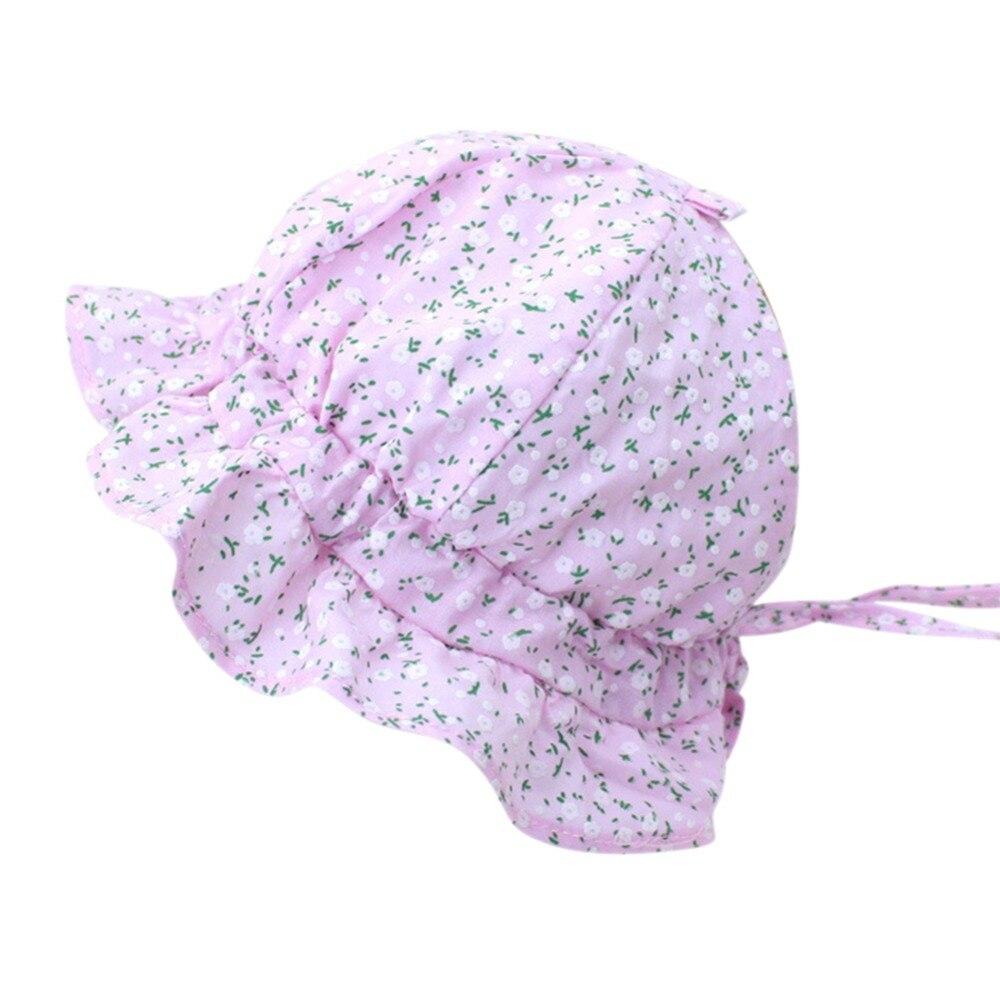 Детские цветочный принт Кепки 2018 Детские Шапки солнца Кепки летняя шляпа для девочек мальчиков шляпа Подставки для фотографий