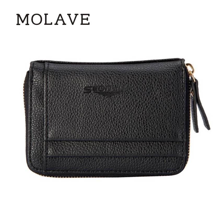 MOLAVE Wallets Wallet Men Solid CardHolder Zipper Men Business Wallet Vintage PUrse High ...
