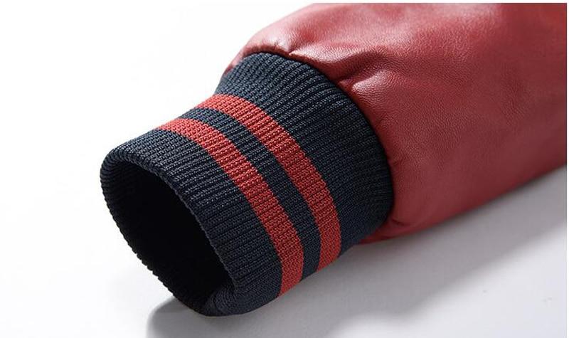 HTB1sy0FeSCWBuNjy0Fhq6z6EVXa0 Jacket Men Embroidery Baseball Jackets Pu Leather Coats Slim Fit College Luxury Fleece Pilot Leather Jackets casaco masculino