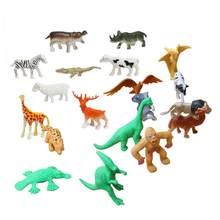 ff577e5467dc 68 piezas Jungle Animal figuras de juguete juego realista Animal salvaje  plástico sólido Playset leopardo tigre león jirafa cebr.
