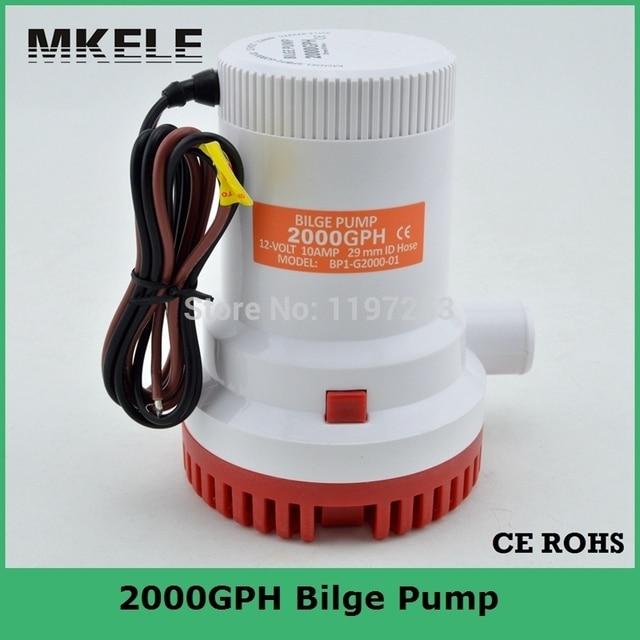 مضخة مياه 12 فولت 2000gph مزودة بمضخة شحن تيار مستمر مزودة بمضخة مياه غاطس تعمل بالكهرباء 24 فولت