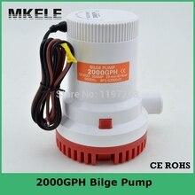 Pompe à eau Submersible 12V 2000gph