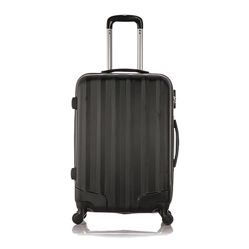Комплект 1 шт. багаж 4 колеса тележки чемодан мешок Hard Shell Цвет черный 20 дюйма ...