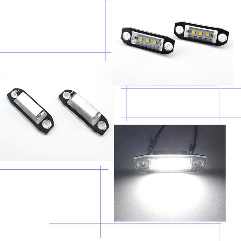 Pair 18 LED License Plate Light White Bulbs Lamp Kit for Volvo S80 V70 XC70 S60