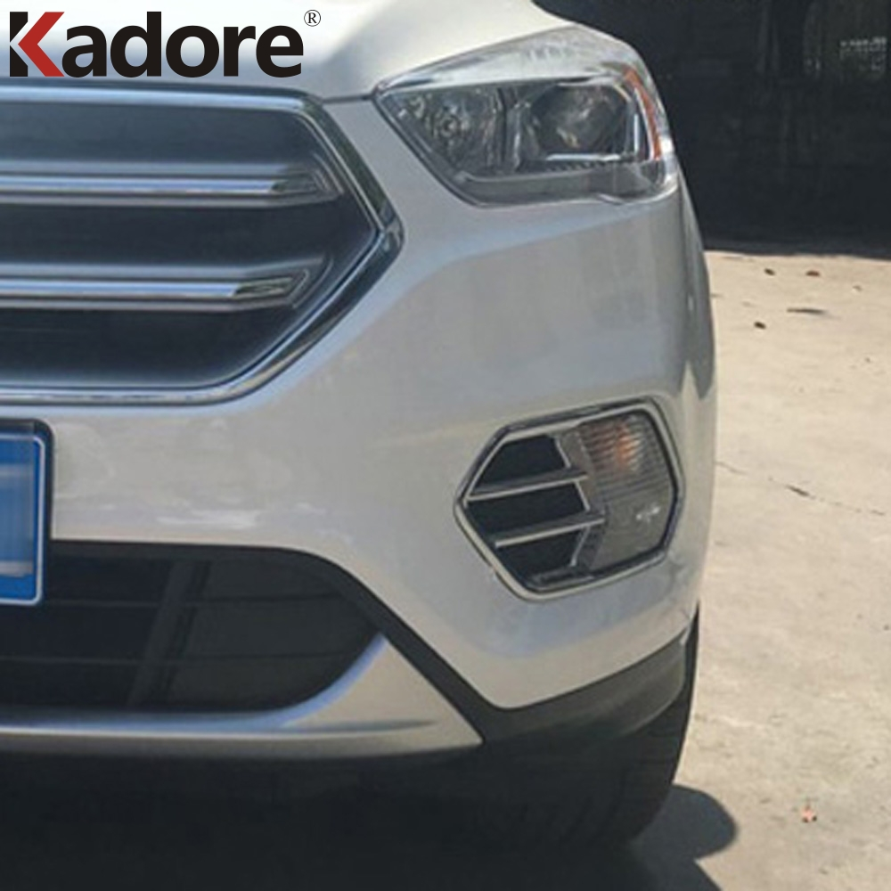 Yp ABS Chrome Before Fog Light Lamp Cover Decorate Trim For Ford Escape Kuga 2017