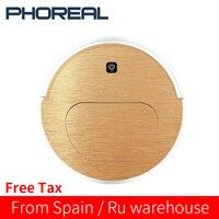 PhoReal FR 6S Roboter-staubsauger Für Home Haustier Haar, Harten Boden, low Pile Teppiche Nassen Und Trockenen Reinigung Aspiradora 2200Mah