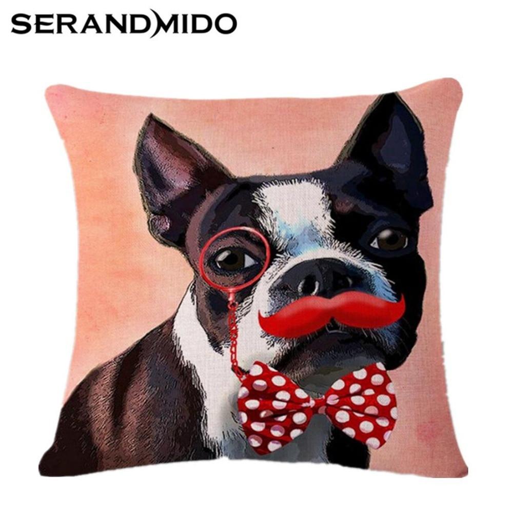 44c0537bc Almofada do sofá Almofadas Decorativas 45*45 cm Almofada Cadeira Almofadas  Bulldog Cão Lance Gato Travesseiro Têxtil de Casa Para Casa Almofadas de ...