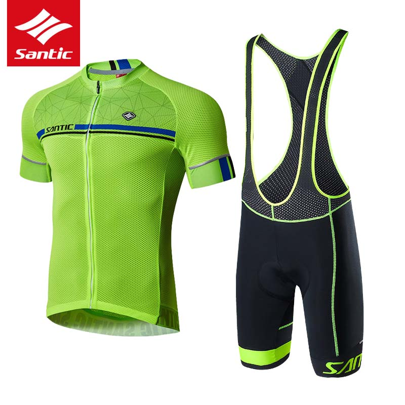 SANTIC Cycling Jersey Sets 2018 Pro Team Cycling Clothing Men Ropa Ciclismo Bicycle Clothes Short Sleeve Mountain Road Bike Sets high quality pro team rock racing bike cycling clothing men summer ropa ciclismo breathable short sleeve cycling jerseys sets