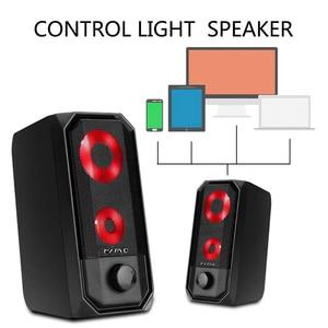 Image 3 - Novas luzes coloridas alto falante do computador 2.0 rgb luz de controle toque portátil mini alto falante super estéreo baixo para o jogo em casa