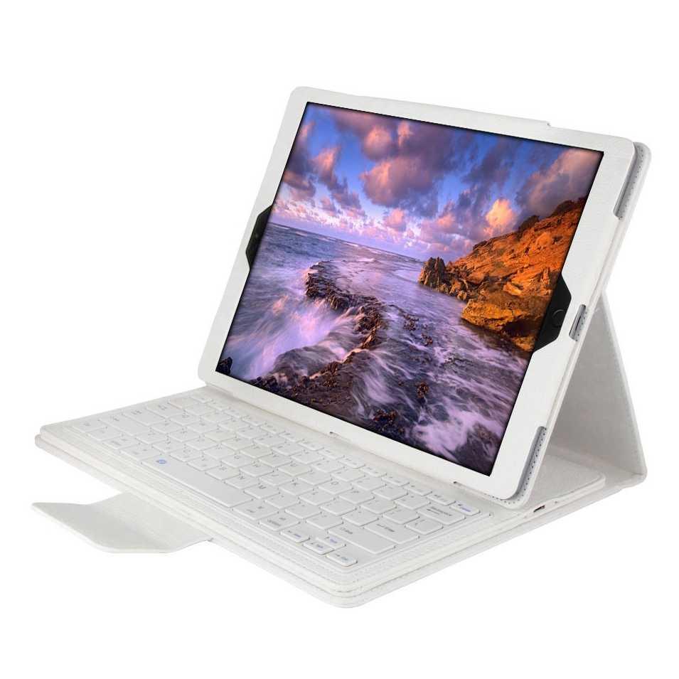 لباد برو 12.9 بوصة 2017 سماعة لاسلكية تعمل بالبلوتوث لوحة المفاتيح حافظة لجهاز iPad برو 12.9 2017 اللوحي جلد الوجه غطاء حامل + ستايلس