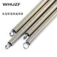 Tension spring 2pcs stainless steel extension spring 0.3/0.5/0.6/0.8mm wire diameter x (3-12)mm Spring out diamter 300mm length
