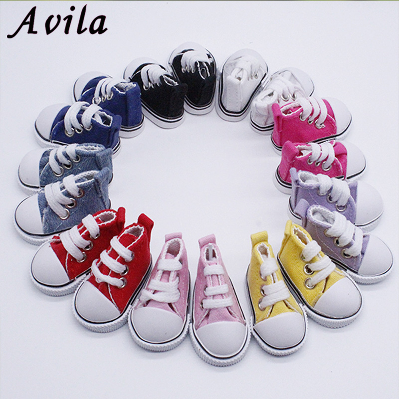 3 inch Fashion High Top Canvas Shoes with Shoelace for 1//4 1//3 BJD MID Doll ACCS