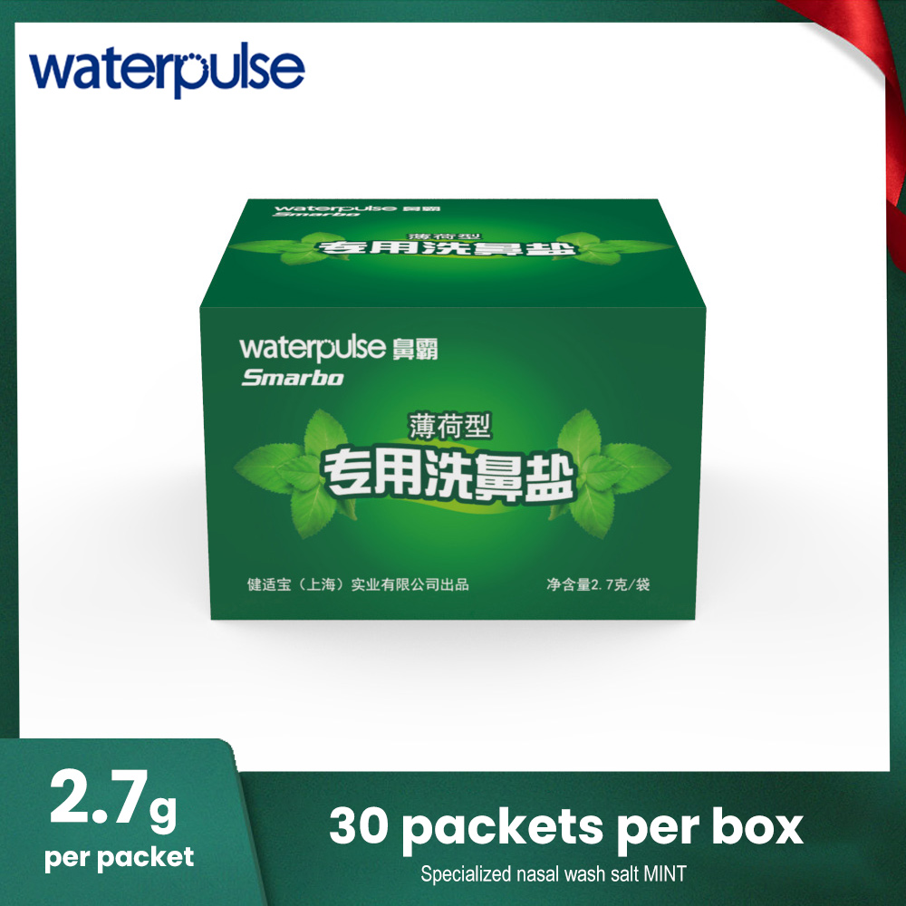 Waterpulse Mint Nose Wash Sinus Allergies Relief Salt Mint Nasal Rinse Mix 2.7g*30 Packets Nose Care Cleaning Irrigation ToolsWaterpulse Mint Nose Wash Sinus Allergies Relief Salt Mint Nasal Rinse Mix 2.7g*30 Packets Nose Care Cleaning Irrigation Tools