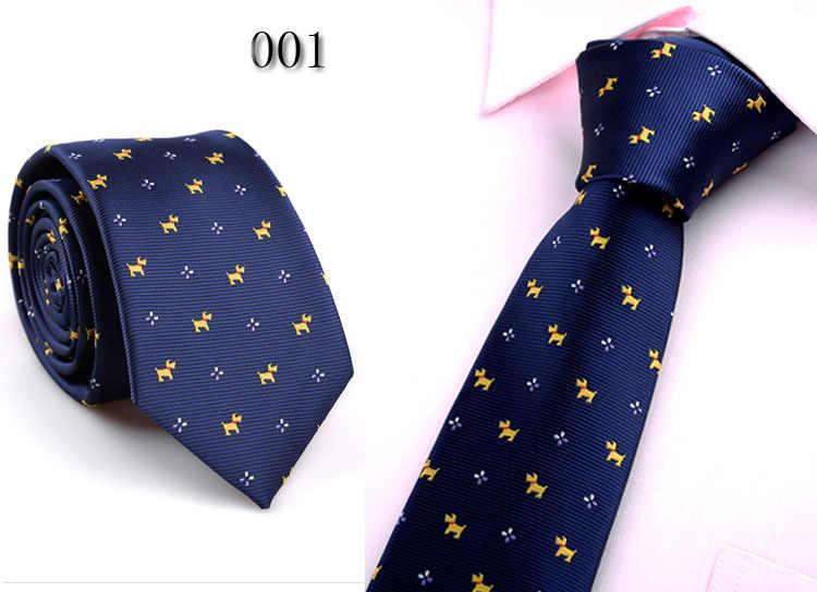 Męskie krawaty biznes Polka kropki pasek Skinny krawaty dla mężczyzn ślub łuk krawat moda marka Floral Gravata Slim krawat LD8031