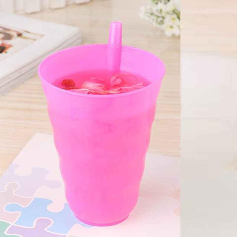 เด็กทารกเด็ก Sip ถ้วยที่มีฟางแก้วถ้วยบ้านสีส้ม/สีฟ้า/สีเขียว/ สีชมพูร้อน