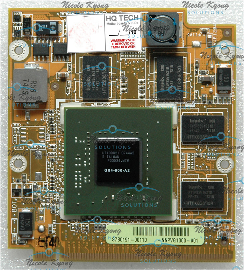 A8S NNPVG1000 A01 08G28AS0311G 08G28AS0311I 8600M GT 512M DDR2 VGA Video card for A8SC F8S F8SV A8E A8S upgrade 8400M