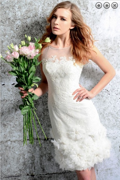 free shipping new fashion 2018 elegant Custom Short lace simple white beach Victorian style bridal gown   bridesmaid     dresses