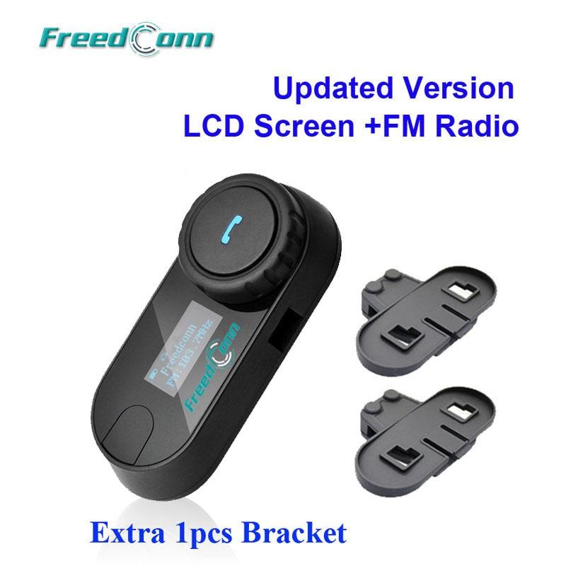 Free Shipping Original FreedConn Brand Bluetooth Motorcycle Helmet Intercom Headset with LCD Screen FM Radio Extra