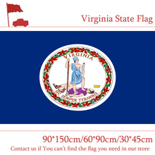 Free shipping 60*90cm 90*150cm Virginia State Flag 30*45cm Car 3*5Ft