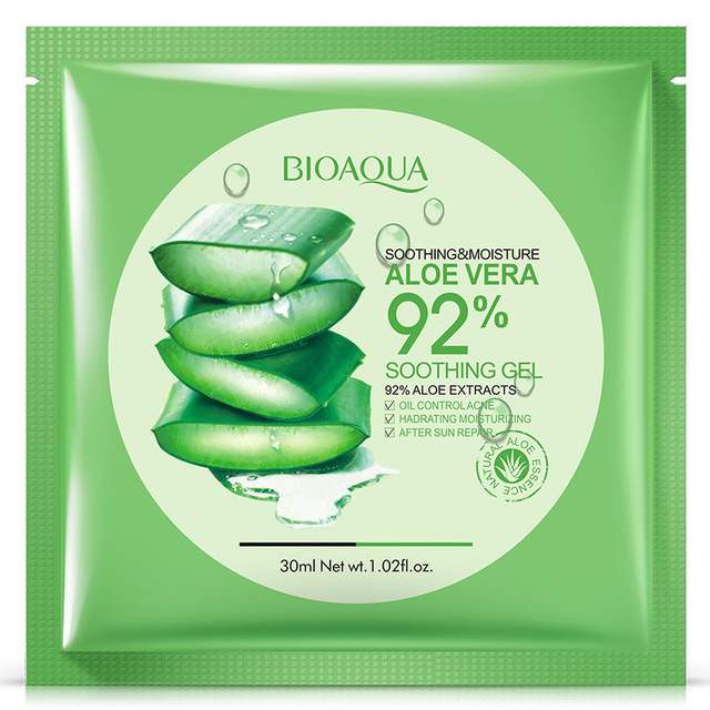 bioaqua Natural Aloe Vera Gel Face Mask Skin Care Shrink Pores Facial Mask Moisturizing Oil Control Wrapped Mask