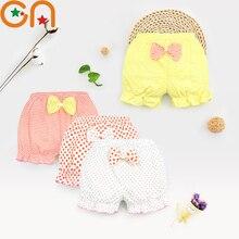 Детское нижнее белье из хлопка детские трусы для девочек детские модные трусики в полоску с бантом для малышей, высококачественные шорты подарки, CN