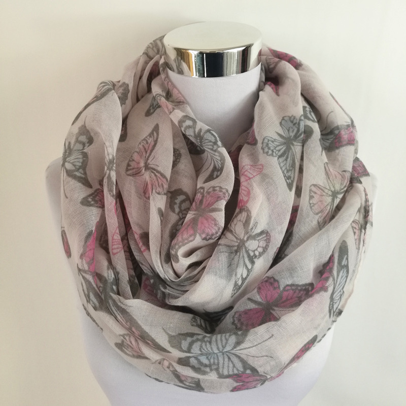 New Fashion Butterfly Print Soft Long Scarf viscose women Scarves Neck Wrap Shawl Stole Spring Autumn infinity Scarves for Women