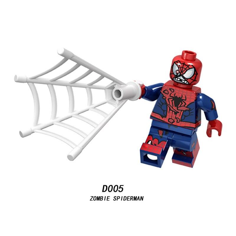 Single Sale Super Heroes Star Wars Zombie Spider Man 005 Building Blocks Figure Bricks Toys Kids Gift Compatible Legoed Ninjaed