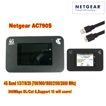 Unlocked Netgear Aircard 790s (plus antenna 2pcs ) 300Mbps 4G Mobile Hotspot wifi Router (4G in Asia, Africa,America,Europe)