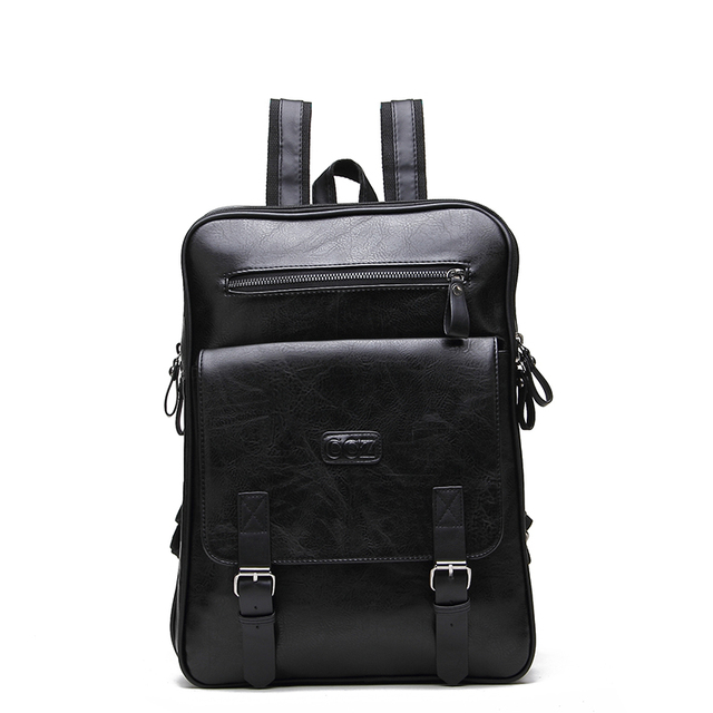 """Крест быка мужские рюкзаки из искусственной кожи Модная школьная сумка мужской рюкзак для воды 14 """"рюкзак для ноутбука BK8003"""