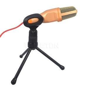 Image 2 - Microfone de estúdio de som portátil sf666 para computador bate papo pc laptop notebook karaoke mic para telefones celulares