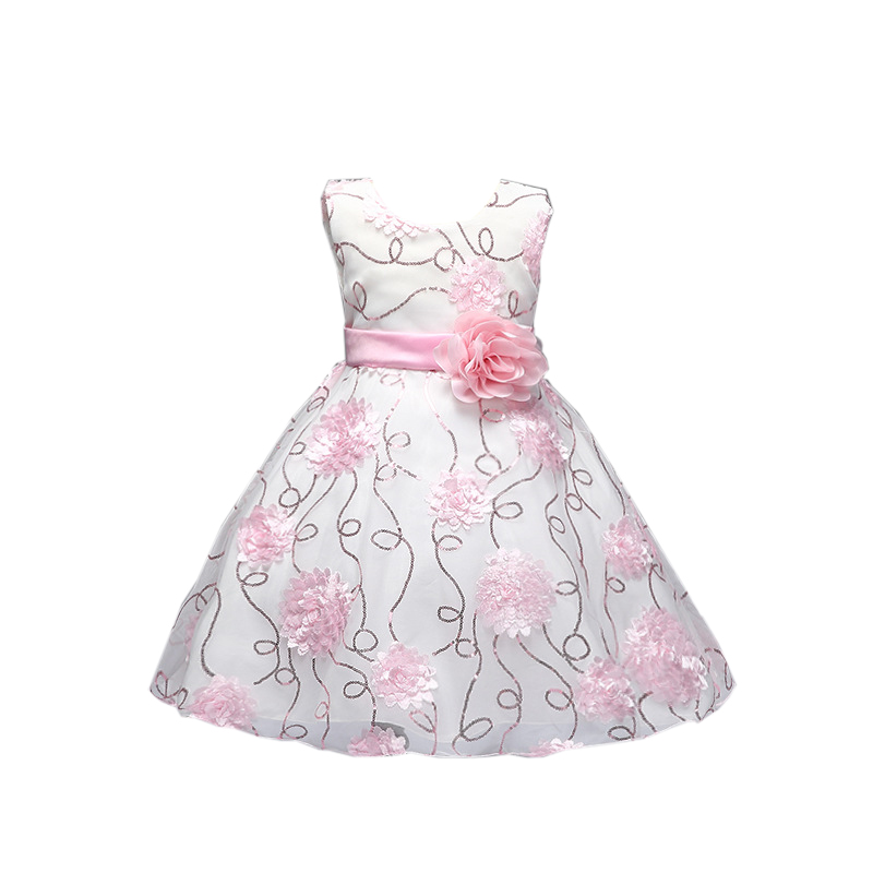 Girl Summer Dress baby girl Dress New Fashion Casual Sequins Princess Dress with flower wedding party dress sleeveless kid new fashion suspender with sleeveless shirt suit for girl
