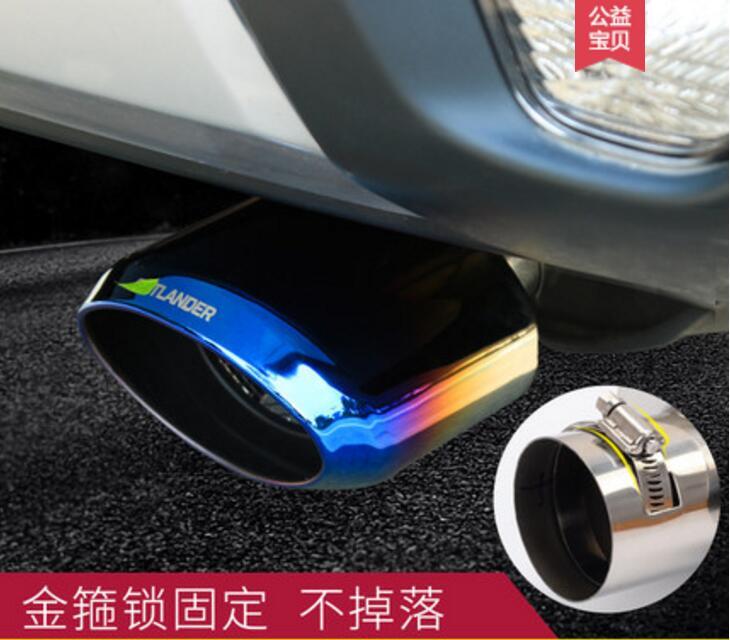 Accessoires en acier inoxydable pour voiture JINGHANG raccord de tuyau d'échappement pour Mitsubishi Outlander 2013-2018