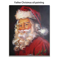 Father Christmas oil painting Paintings For Living Room Wall Hand Painted Canvas Art Poster.Leisure fashion.free shipping.