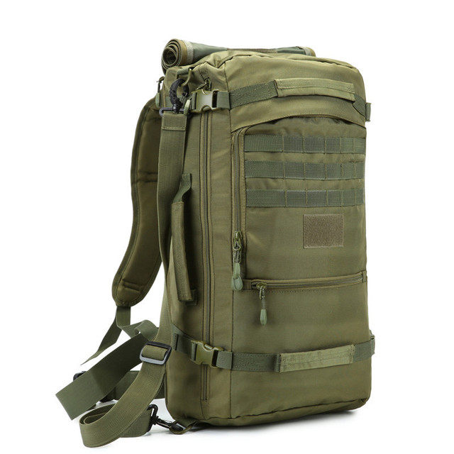 50 litres Nylon Travel backpack bag multi-purpose male military backpacking  large-capacity best