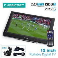 LEADSTAR 12 дюймов HD Портативный ТВ DVB-T2 ATSC ISDB-T tdt цифровой и аналоговый мини маленький автомобильный телевизор Поддержка USB SD карты MP4 AC3