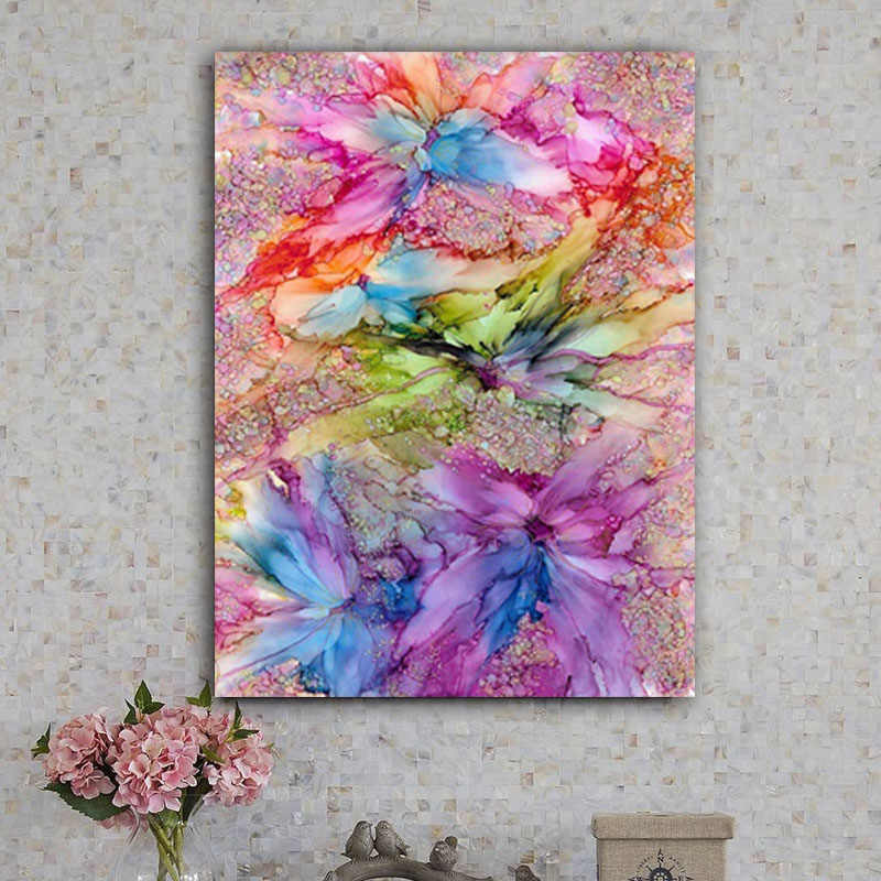 DIY colorings pictures by numbers withColorful flowers painting picture drawing painting by numbers framed Home