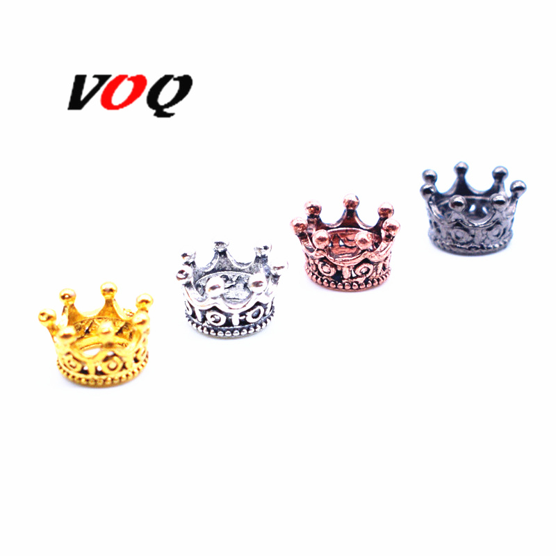 VOQ 10pcs/lot Imperial Crown Beads for Jewelry Making DIY Alloy Spacer Fit Bracelet Accessories Wholesale P137