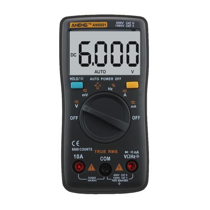 True-RMS Digital Multimeter Auto Range 2000/6000/9999 Counts Ohm Temperature Back Light AC/DC Voltage Ammeter Current Meter uni t ut61a b c d e counts digital multimeter with auto range dc ac voltage current ohm capacitance diode true rms
