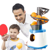 4*AA Mini Table Tennis Robot Parent child Student Sender Pitching Serve Machine Trainer Gift Racquet Sport 40+ Ping Pong Balls