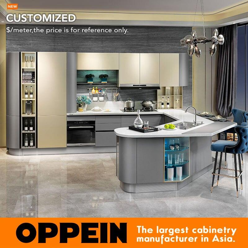 Custom North American Project Modern Lacquer Small Kitchen