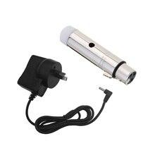 Lixada 2,4G ISM DMX512 Drahtlose Weibliche XLR Empfänger LED Beleuchtung für Bühne PAR Party Licht