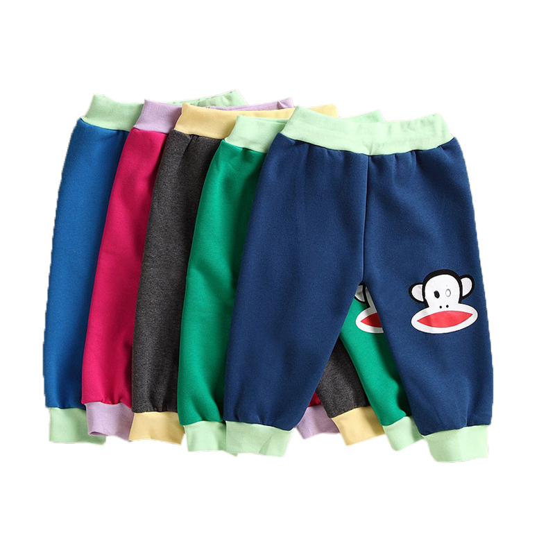 2016New Spring&Autumn kids clothing boys girls harem pants sports trousers leggings baby 100% cotton Cartoon trousers baby pants