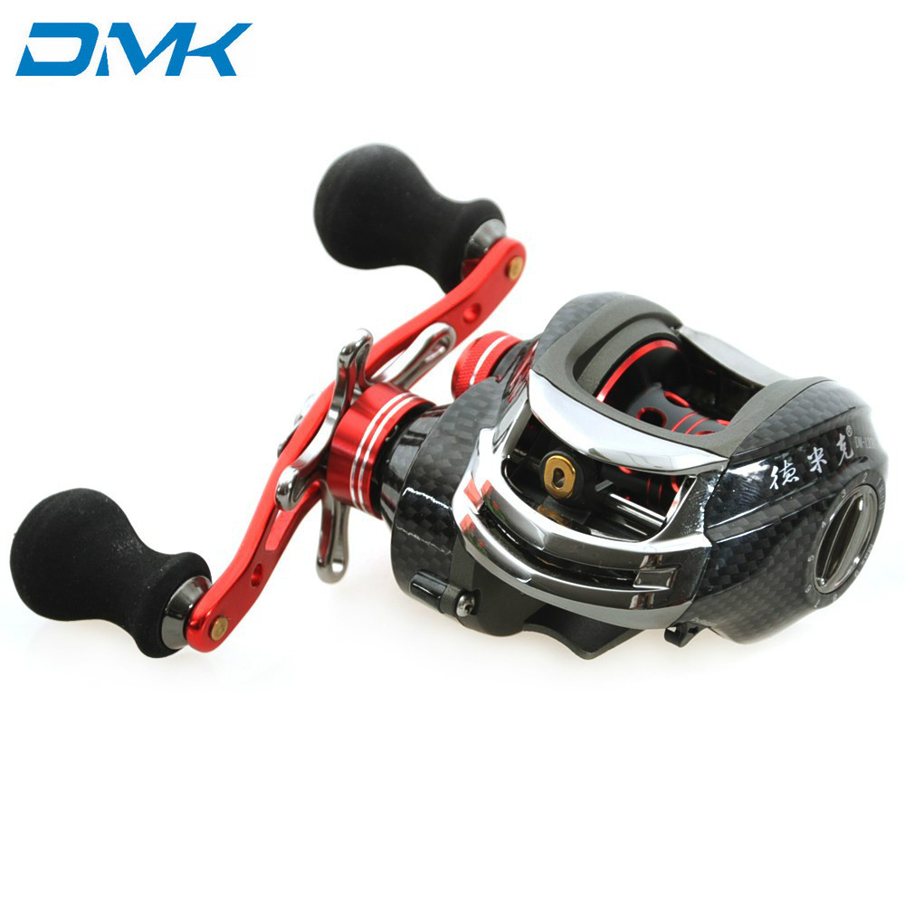 DMK Durable <font><b>DM120</b></font> Water Drop Wheel Bait Casting Fishing Reel 12BB 6.3:1 Right/Left Hand Baitcasting Reels Fishing Tackle Tools image