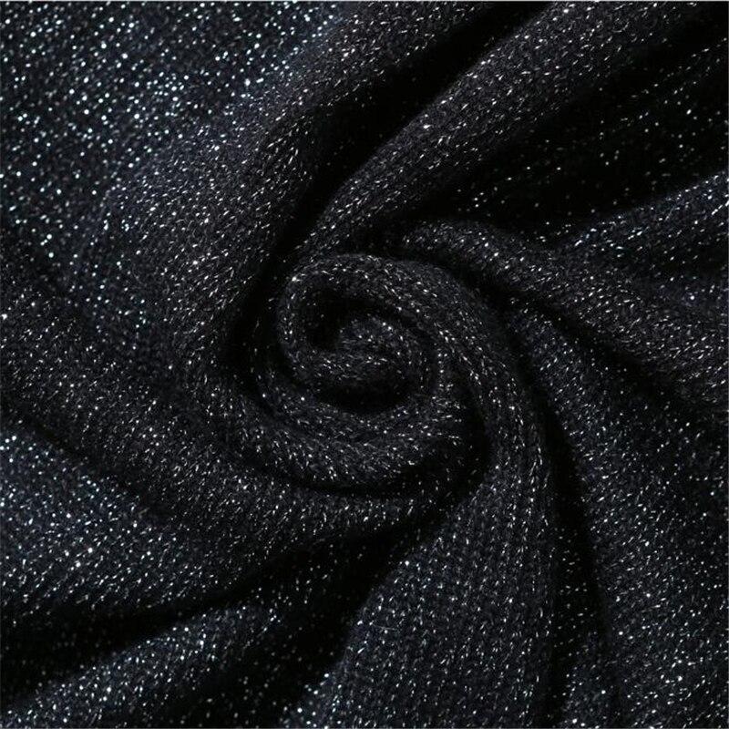 Gamme Soie Chandail Hiver Taille 2018 Robes Européenne Station Mode Ceinture D'or Robe Haut Nouée Grande La De Automne À Black Nouvelle Femmes HxPgqnwUH4