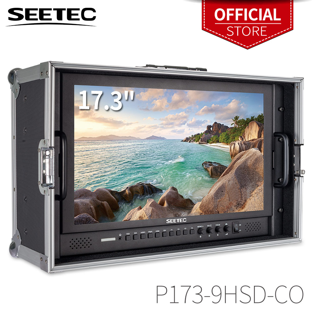 Seetec P173-9HSD-CO 17.3 Inch IPS 3G-SDI HDMI Broadcast Monitor With AV YPbPr Carry-on LCD Director Monitor With Suitcase